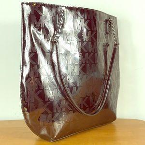 Michael Kors 🌺Metallic Patent Leather Tote Bag